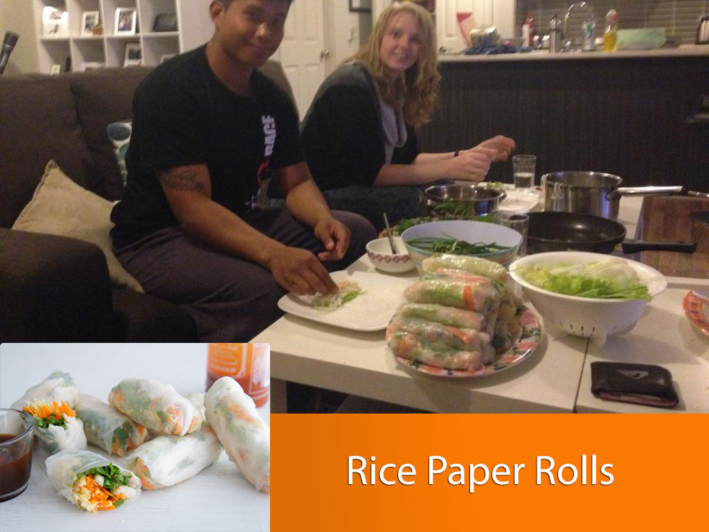 Rice paper rolls dating night